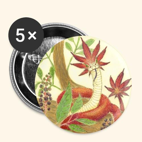 tripping viper - Confezione da 5 spille grandi (56 mm)