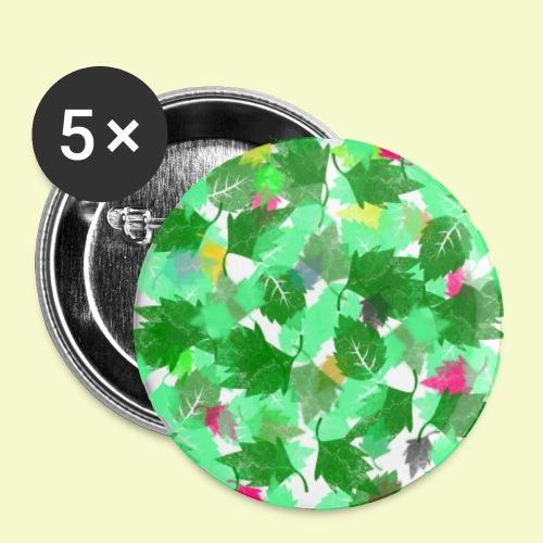my leaves | Blätterboden im Laubland - Buttons groß 56 mm (5er Pack)