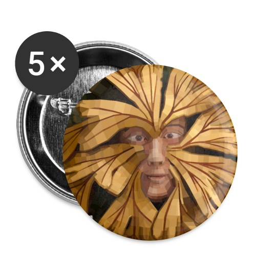 Pagan Green Man for Druids - Buttons large 2.2''/56 mm(5-pack)