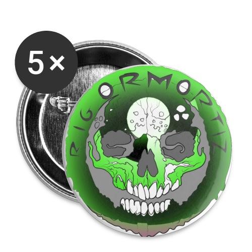 Rigormortiz Metallic Green Design - Buttons large 2.2''/56 mm(5-pack)