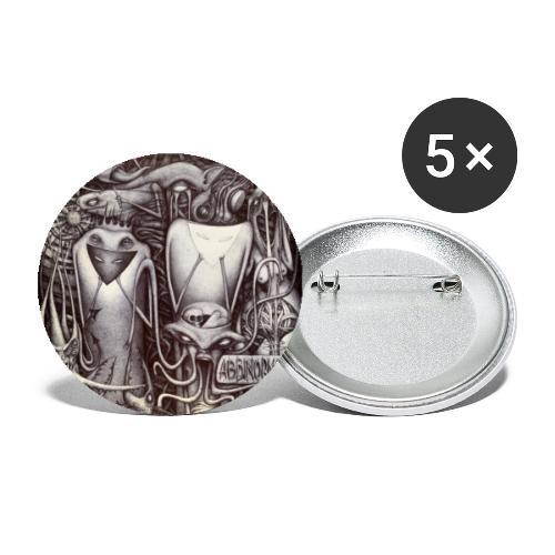 Abbinormal.....GrindCore Metal Band - Confezione da 5 spille grandi (56 mm)