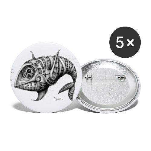 Pesce & Fish - Confezione da 5 spille grandi (56 mm)
