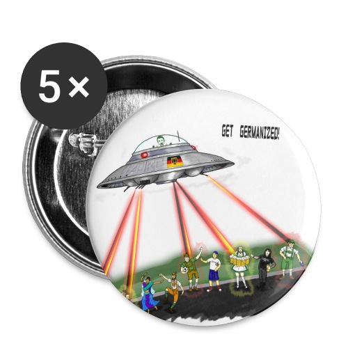 UFO Germanizer Ray - Buttons large 2.2''/56 mm(5-pack)
