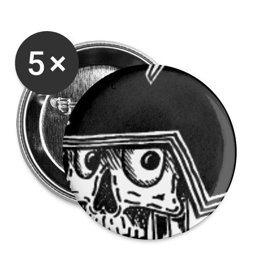 Samurai2 png - Confezione da 5 spille grandi (56 mm)