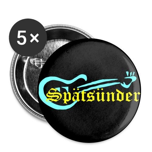 Spätsünder - Buttons groß 56 mm (5er Pack)