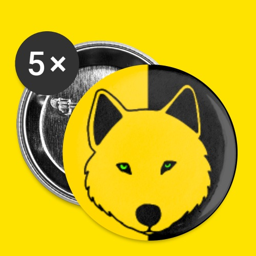 Jasja The Wolf jpg - Buttons large 2.2''/56 mm (5-pack)