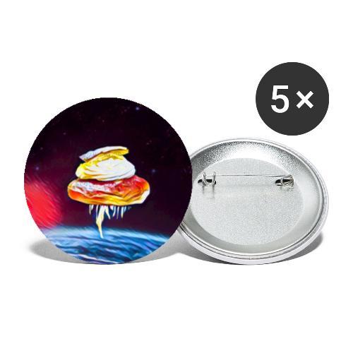 Semla - Stora knappar 56 mm (5-pack)