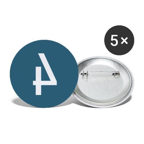 Het Spoor 4 logo klein - Buttons groot 56 mm (5-pack)