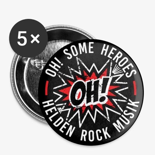 Helden Rock - Buttons groß 56 mm (5er Pack)