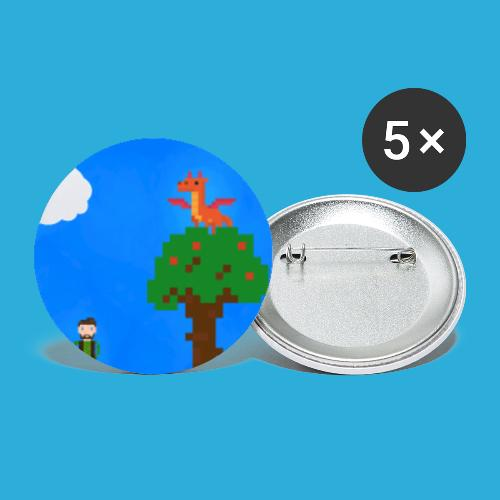 Forest adventure - Buttons groot 56 mm (5-pack)