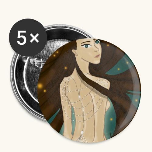 Lucioles - Lot de 5 grands badges (56 mm)