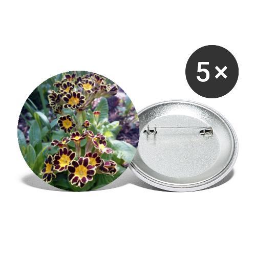 Primel - Buttons groß 56 mm (5er Pack)