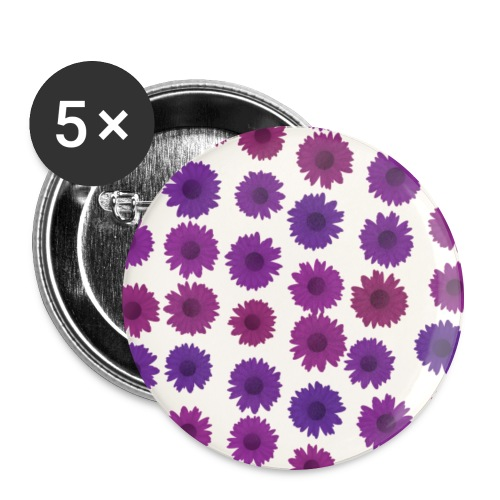 Flowers - Buttons groß 56 mm (5er Pack)