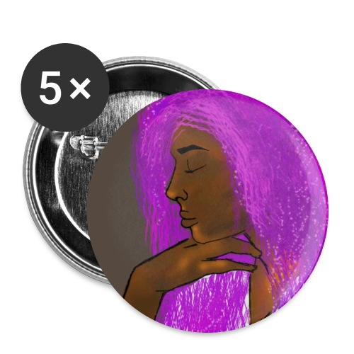Purple Goddess - Buttons large 2.2''/56 mm (5-pack)
