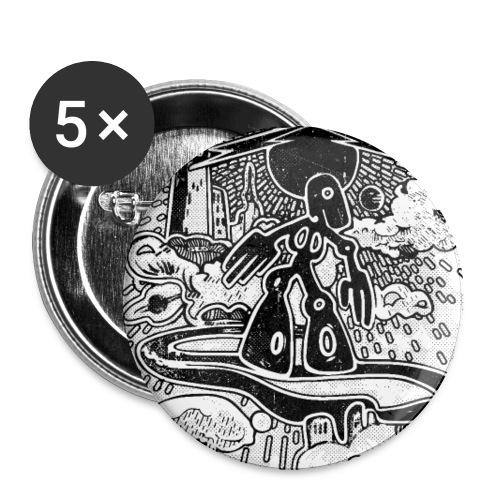 SKY SURFER - Confezione da 5 spille grandi (56 mm)