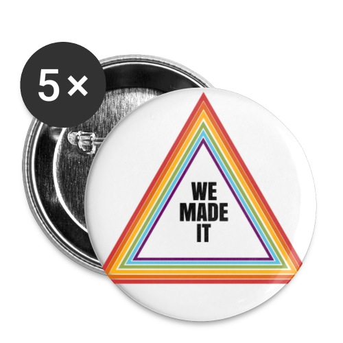we made it triangle - Buttons large 2.2''/56 mm(5-pack)