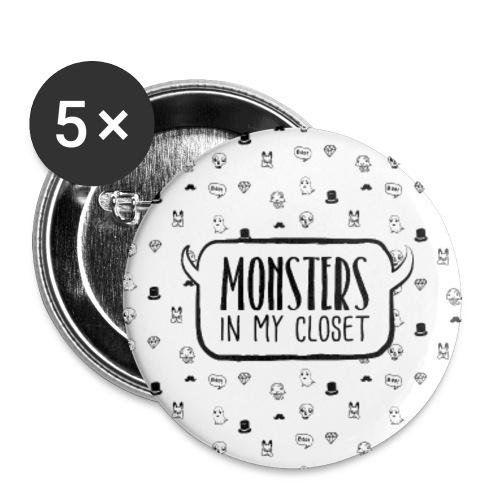 Monsters In My Closet - Przypinka duża 56 mm (pakiet 5 szt.)