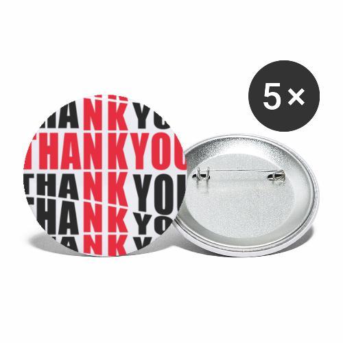 Motyw z napisem Thank You - Przypinka duża 56 mm (pakiet 5 szt.)