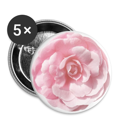 pink camelia - Buttons large 2.2''/56 mm(5-pack)