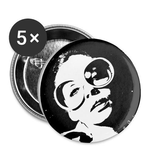 Vintage brasilian woman - Lot de 5 grands badges (56 mm)