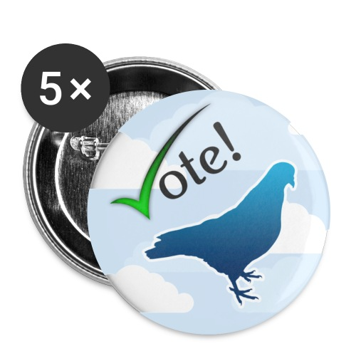vote pigeon badge - Buttons large 2.2''/56 mm (5-pack)