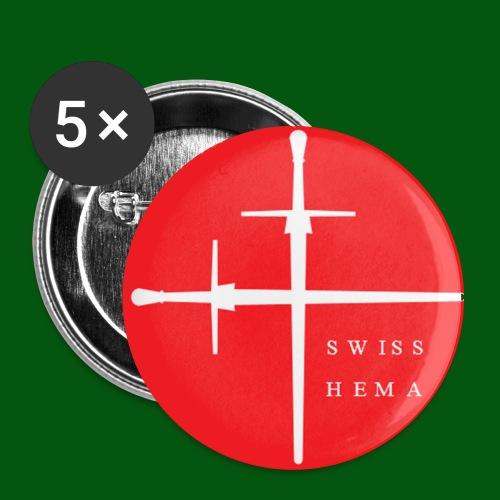 Logo Swiss HEMA - Buttons groß 56 mm (5er Pack)