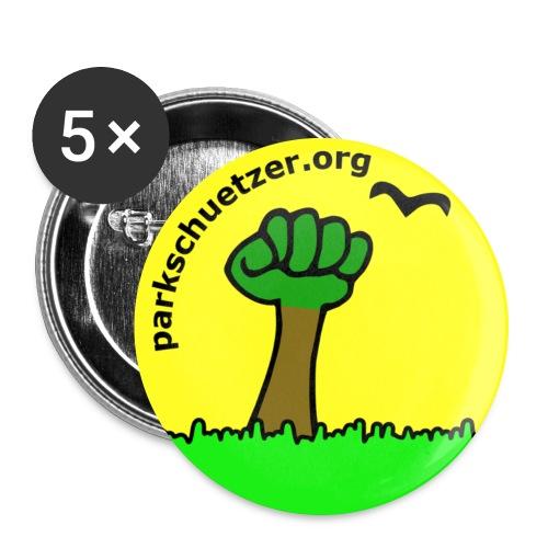Watschenbaum rund gelb - Buttons groß 56 mm (5er Pack)