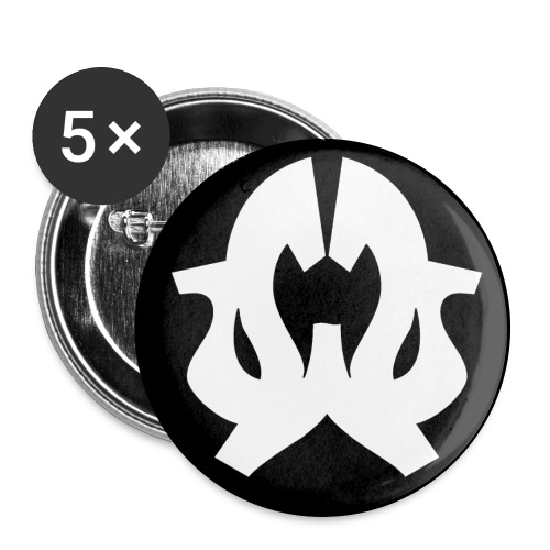 Wonda Wendy badge noir png - Lot de 5 grands badges (56 mm)