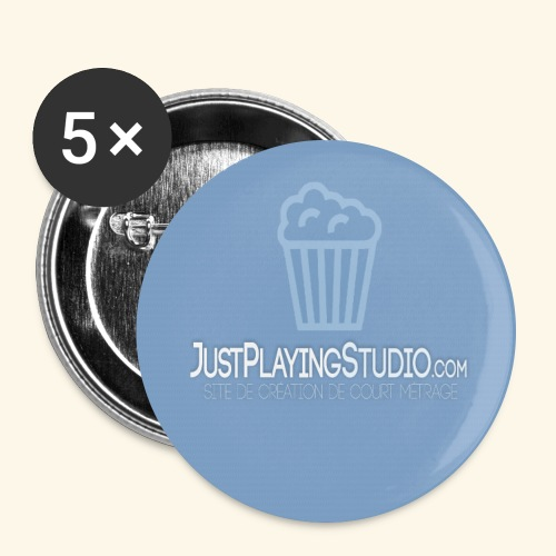 Tapis de souris - JustPlayingStudio - Lot de 5 grands badges (56 mm)