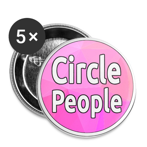 Circle People Logo Transparent png - Buttons large 2.2''/56 mm(5-pack)
