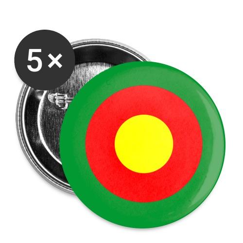 Kamerun Cameroons Afrika Africa Mod Target - Buttons groß 56 mm (5er Pack)