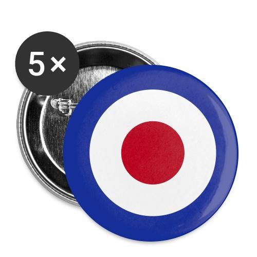 Mod Target United Kingdom Großbritannien - Buttons groß 56 mm (5er Pack)