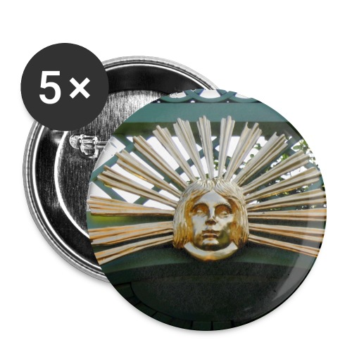 Sonnengesicht - Buttons groß 56 mm (5er Pack)