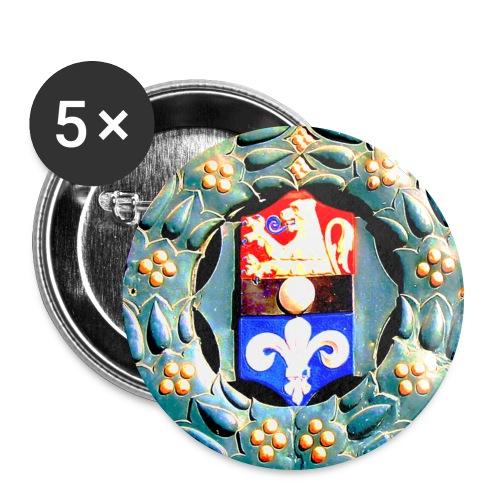 Button Wappen Darmstadt - Buttons groß 56 mm (5er Pack)