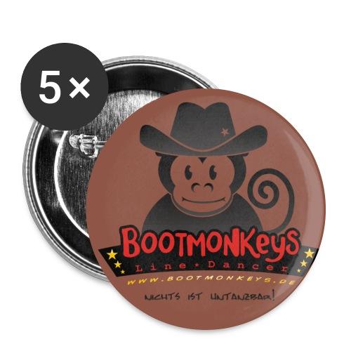 Bootmonkey LOGO Druck - Buttons groß 56 mm (5er Pack)