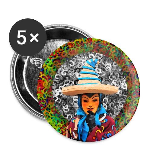 Fasnet - Buttons groß 56 mm (5er Pack)