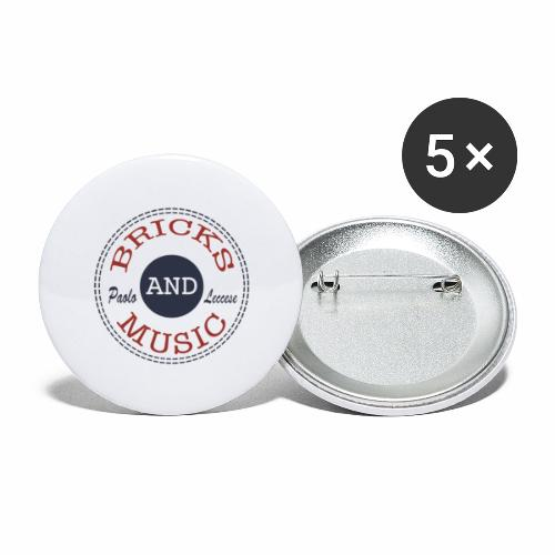 BRICKS AND MUSIC - Confezione da 5 spille grandi (56 mm)
