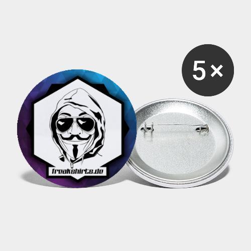 FREAKSHIRTS.de (Icon) - Buttons groß 56 mm (5er Pack)
