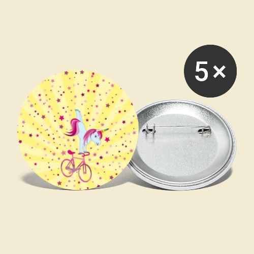 Kunstrad | Einhorn Handstand Handyhülle - Buttons groß 56 mm (5er Pack)