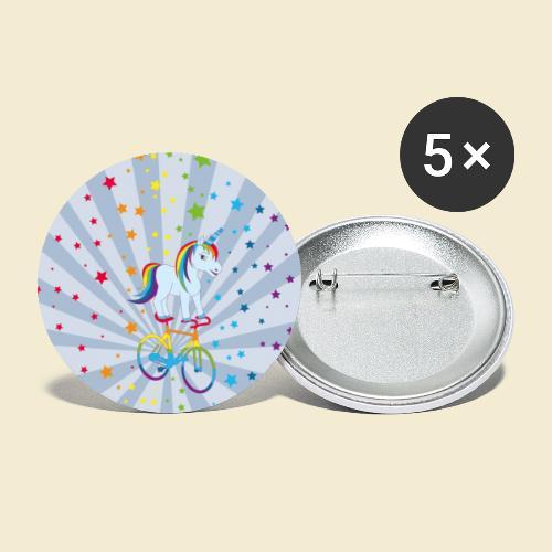 Kunstrad | Einhorn Handyhülle - Buttons groß 56 mm (5er Pack)