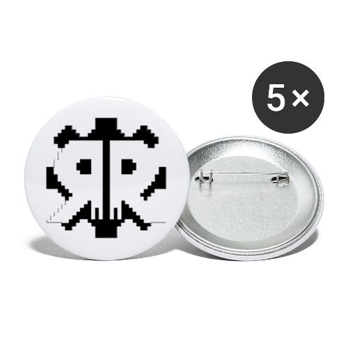 The 8-Bit Logo Collection - Buttons large 2.2''/56 mm(5-pack)