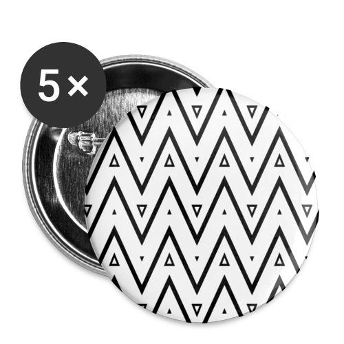 Motif en V - Lot de 5 grands badges (56 mm)