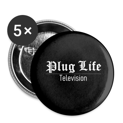 Plug Life Television Logo - Buttons large 2.2''/56 mm(5-pack)