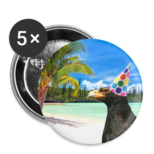 L'Aigle Noir - Lot de 5 grands badges (56 mm)