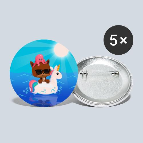 Summer Vibes - Lot de 5 grands badges (56 mm)