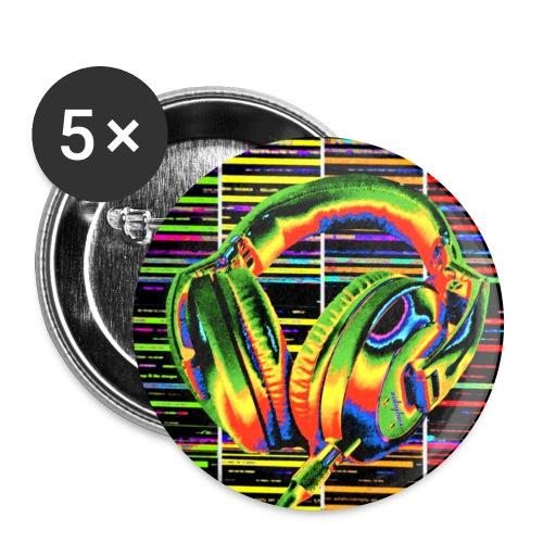Casque discothèque 2 - Lot de 5 grands badges (56 mm)