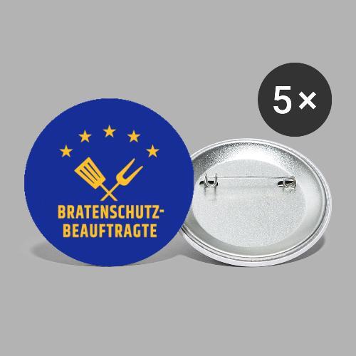 EU Bratenschutz-Beauftragte - Buttons groß 56 mm (5er Pack)