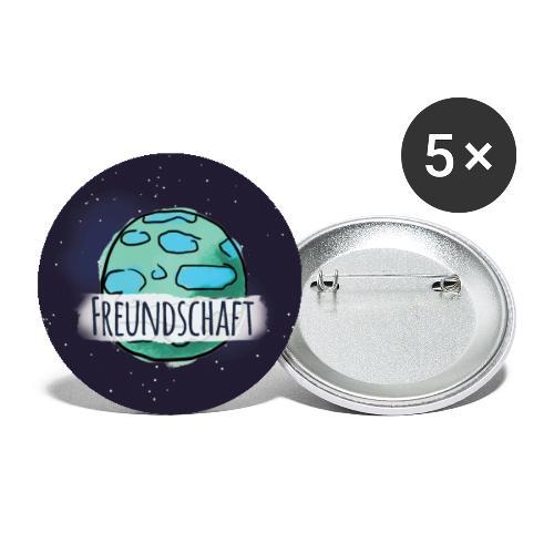 Wert: Freundschaft - Buttons groß 56 mm (5er Pack)