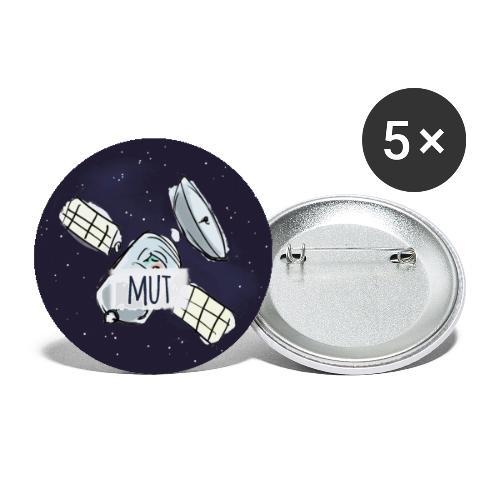 Wert: Mut - Buttons groß 56 mm (5er Pack)
