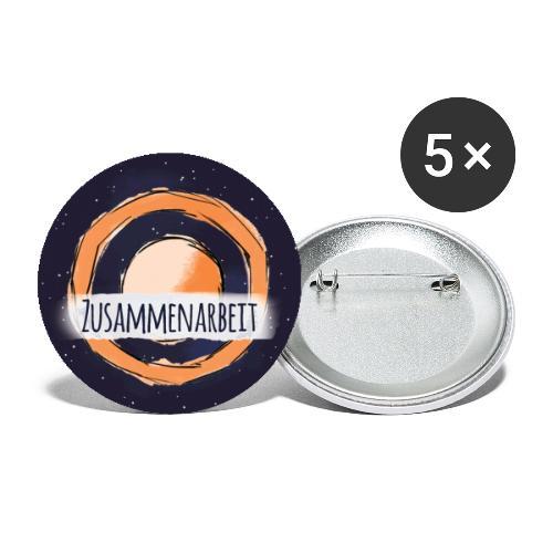 Wert: Zusammenarbeit - Buttons groß 56 mm (5er Pack)